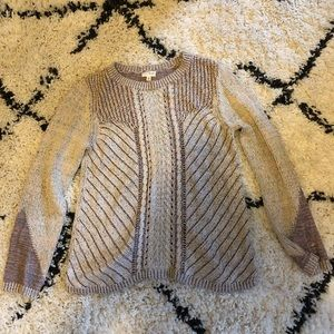 Hem and Thread patterned sweater